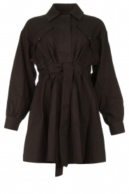 ba&sh |  Dress with tie belt Oden | black  | Picture 1