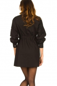 ba&sh |  Dress with tie belt Oden | black  | Picture 7
