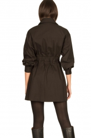 ba&sh |  Dress with tie belt Oden | black  | Picture 6