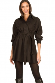ba&sh |  Dress with tie belt Oden | black  | Picture 4