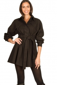 ba&sh |  Dress with tie belt Oden | black  | Picture 2