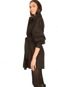 ba&sh |  Dress with tie belt Oden | black  | Picture 5