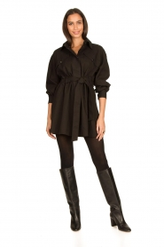 ba&sh |  Dress with tie belt Oden | black  | Picture 3