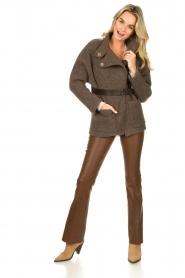 ba&sh |  Belted wool coat Calvi | brown  | Picture 3