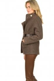 ba&sh |  Belted wool coat Calvi | brown  | Picture 5