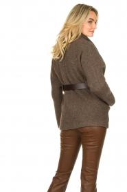 ba&sh |  Belted wool coat Calvi | brown  | Picture 6