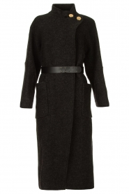 ba&sh |  Belted wool coat Come | dark grey  | Picture 1