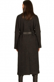 ba&sh |  Belted wool coat Come | dark grey  | Picture 7