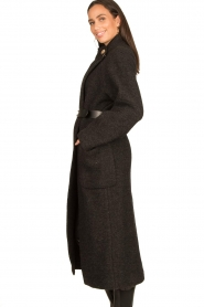 ba&sh |  Belted wool coat Come | dark grey  | Picture 6