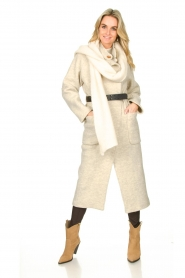 ba&sh :  Belted wool coat Come | natural - img3