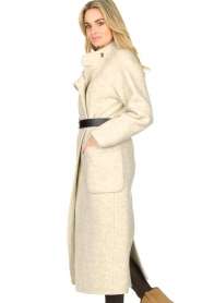 ba&sh :  Belted wool coat Come | natural - img6