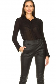 ba&sh :  See-through blouse Lol | black - img5