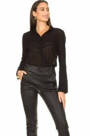 ba&sh :  See-through blouse Lol | black - img4