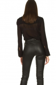 ba&sh :  See-through blouse Lol | black - img7