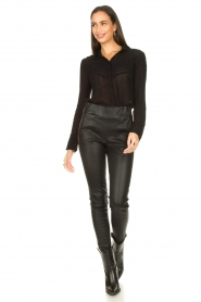 ba&sh |  See-through blouse Lol | black  | Picture 3