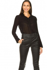 ba&sh :  See-through blouse Lol | black - img2