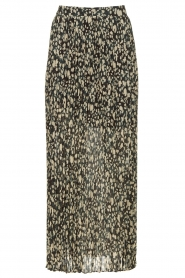 ba&sh |  Leopard printed maxi skirt Lamba | green  | Picture 1