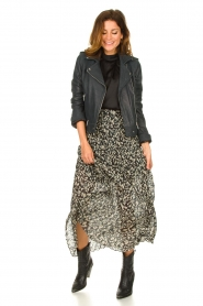 ba&sh |  Leopard printed maxi skirt Lamba | green  | Picture 3