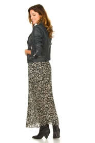 ba&sh |  Leopard printed maxi skirt Lamba | green  | Picture 5