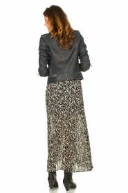 ba&sh |  Leopard printed maxi skirt Lamba | green  | Picture 6