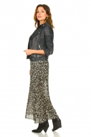 ba&sh |  Leopard printed maxi skirt Lamba | green  | Picture 4
