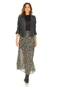 ba&sh |  Leopard printed maxi skirt Lamba | green  | Picture 2