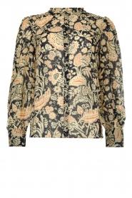 ba&sh |  Floral blouse Abi | blue  | Picture 1