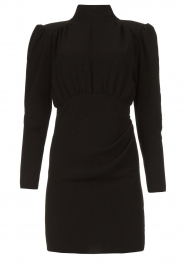 ba&sh |  Dress with puff sleeves Kina | black  | Picture 1