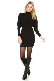 ba&sh |  Dress with puff sleeves Kina | black  | Picture 3