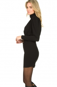 ba&sh |  Dress with puff sleeves Kina | black  | Picture 5