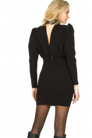 ba&sh |  Dress with puff sleeves Kina | black  | Picture 6