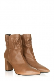 Janet & Janet :  Leather ankle boots Toya | beige - img3