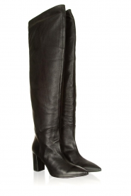 Janet & Janet |  Leather overknee boots Ferola | black  | Picture 3