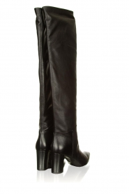 Janet & Janet |  Leather overknee boots Ferola | black  | Picture 4