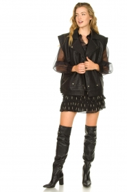Janet & Janet |  Leather overknee boots Ferola | black  | Picture 2