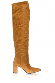 Janet & Janet |  Leather overknee boots Ferola | camel  | Picture 1