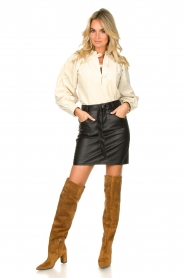 Janet & Janet |  Leather overknee boots Ferola | camel  | Picture 2