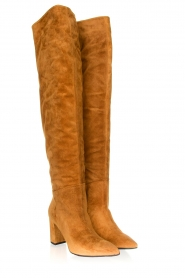 Janet & Janet |  Leather overknee boots Ferola | camel  | Picture 3