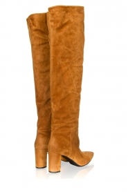 Janet & Janet |  Leather overknee boots Ferola | camel  | Picture 4