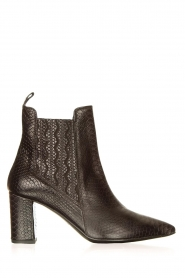 Janet & Janet |  Leather ankle boots Hisbisco | black  | Picture 1