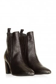 Janet & Janet |  Leather ankle boots Hisbisco | black  | Picture 3