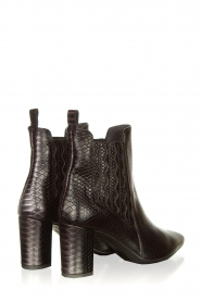 Janet & Janet |  Leather ankle boots Hisbisco | black  | Picture 4