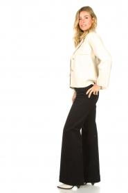 7 For All Mankind | Uitlopende jeans Dojo L34 | zwart   | Afbeelding 2