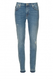 7 For All Mankind |  Cropped skinny jeans Unrolled | blue  | Picture 1