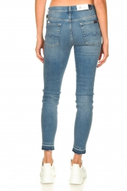 7 For All Mankind |  Cropped skinny jeans Unrolled | blue  | Picture 6