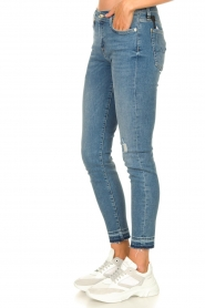 7 For All Mankind |  Cropped skinny jeans Unrolled | blue  | Picture 5