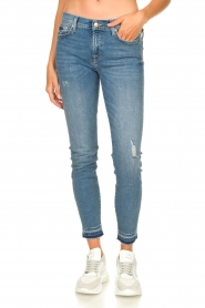 7 For All Mankind |  Cropped skinny jeans Unrolled | blue  | Picture 4