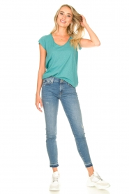 7 For All Mankind |  Cropped skinny jeans Unrolled | blue  | Picture 3