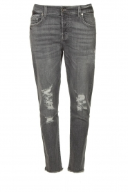 7 For All Mankind |  Destroyed boyfriend jeans Asher | grey  | Picture 1