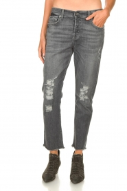 7 For All Mankind |  Destroyed boyfriend jeans Asher | grey  | Picture 4